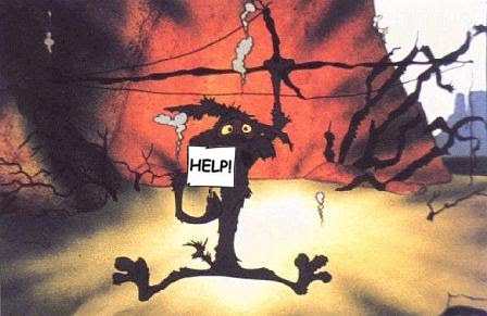 What my brain looks like after following a so-called writing best practice ... (Wile E. Coyote image, courtesy of Looney Toons and Chuck Jones)