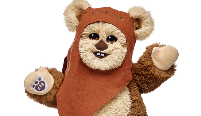 'I'm your Ewok and I'm not creepy' (said in the same voice as Talky Tina from the Twilight Zone). Image courtesy Comicbook.com